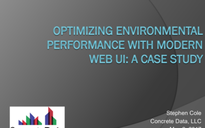 Optimizing Environmental Performance with Modern Web UI